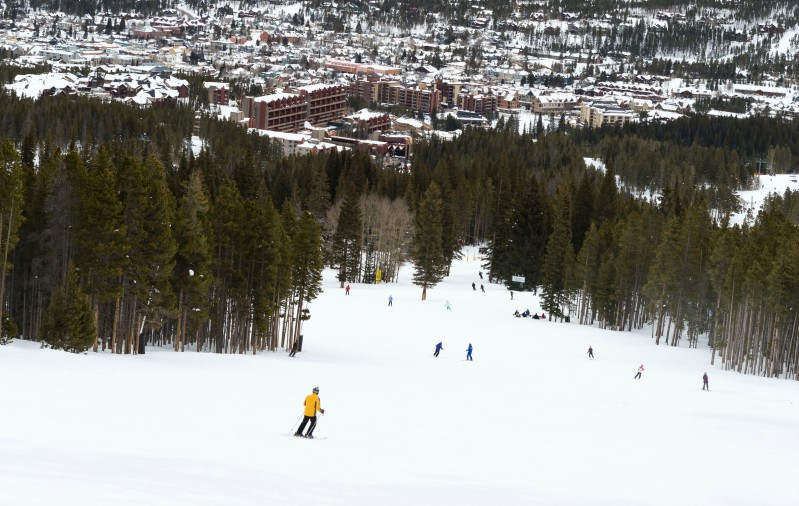 Skiing Down the Slopes of Breckenridge
