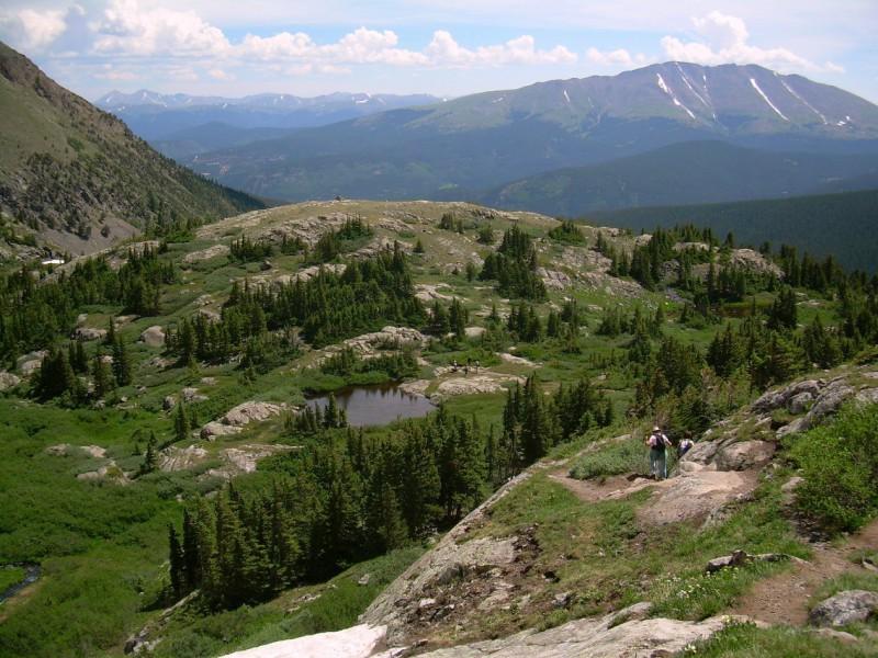 Hikers at Mohawk Lakes Near Breckenridge
